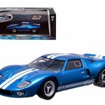 Vinces 1969 Ford GT 40 MK I Blue The Fast and The Furious Fast Five Movie (2012) 1/43 Diecast Car Model by Greenlight