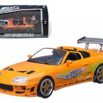 Brians 1995 Toyota Supra MK 4 The Fast and The Furious Movie (2001) 1/43 Diecast Model Car by Greenlight