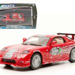 Doms 1993 Mazda RX-7 Red The Fast and The Furious Movie (2001) 1/43 Diecast Car Model by Greenlight