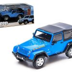 2010 Jeep Wrangler Islander Edition Surf Blue With Case 1/43 Diecast Car Model by Greenlight