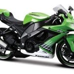 2010 Kawasaki Ninja ZX-10R Green Bike 1/12 Motorcycle Model by Maisto