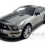 2008 Ford Shelby Mustang GT500 Super Snake Grey With Black Stripes 1/18 Diecast Car Model by Shelby Collectibles