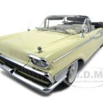 1959 Mercury Parklane Convertible Yellow Platinum Edition 1/18 Diecast Model Car by Sunstar