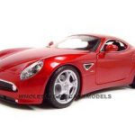 Alfa Romeo 8c Competizione Red 1/18 Diecast Model Car by Bburago