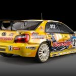 Subaru Impreza WRC 2005 Fujitsubo #2 1/43 Diecast Model Car by HPi Racing